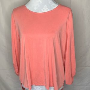 Chico's coral tab sleeve top 2
